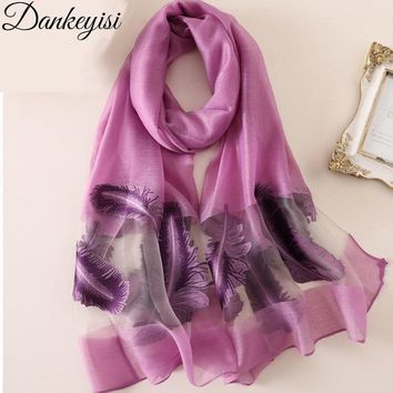 DANKEYISI 2018 Autumn Embroidery Scarf for Women Cotton Hollow Scarves Shawls & Wraps Pashmina Hijab Bandana Stoles