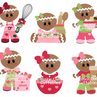 Baking Ginger Breads Cutting File Set gingerbread bake
