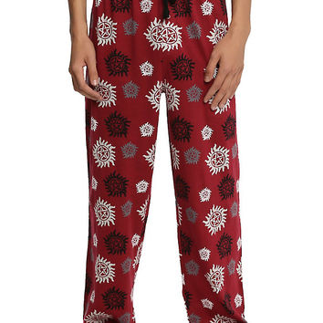 Supernatural Anti-Possession Print Guys Pajama Pants