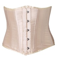Lace-Up Buckle Shiny Corset