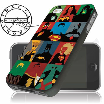 Justice League Minimalist iPhone 4 5 5c 6 Plus Case, Samsung Galaxy S3 S4 S5 Note 3 4 Case, iPod 4 5 Case, HtC One M7 M8 and Nexus Case