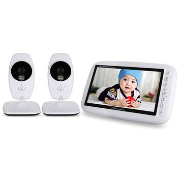 7.0 inch Baby Monitor Wireless TFT LCD 2 Camera Video Baby Monitor with Infrared Night Vision Walkie Talkie Babysitter Monitor