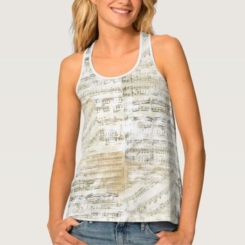 Vintage Sheet Music Tank Top