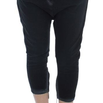 Blue Cotton Stretch Baggy Relax Jeans