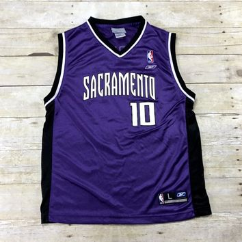 Adidas Sacramento Kings #10 Mike Bibby NBA Jersey YOUTH Size Large