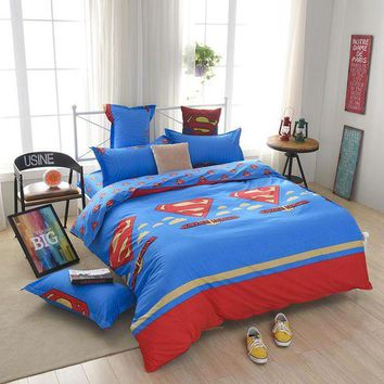 LMFON cartoon  kids children boy girl bedclothes bedding set quilt cover set