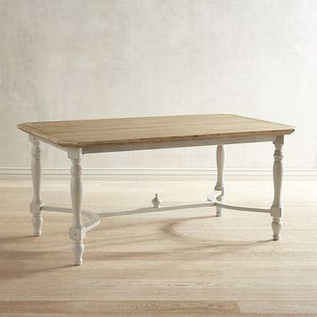 "Amelia 66"" Natural Stonewash Dining Table"