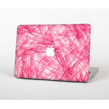 The Subtle Pink Watercolor Strokes Skin Set for the Apple MacBook Air 11""
