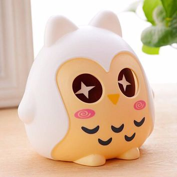 Portable Cute Plastic Cute Plastic Animal Owl Piggy Bank Money Boxes Saving Cash Money Coin Box Children Birthday Xmas Gift