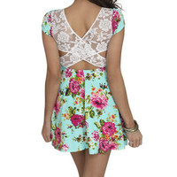 Floral Lace Skater Dress | Shop Just Arrived at Wet Seal
