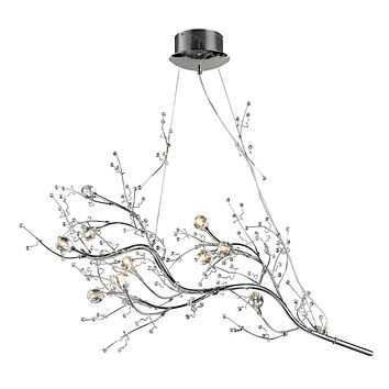 Viviana Collection 10-Light Chandelier in Chrome