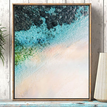 Coastal printable art, Abstract coastal art, ocean wall art, Turquoise Blue Aqua art, abstract coastal artwork, Ocean printable art,