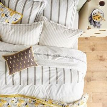 Salento Striped Duvet in Grey Motif
