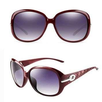 Women's Polarized Elegant Rhinestone Sun Glasses Female Sunglasses Oculos De Sol BENZEN Shades With Case 6008
