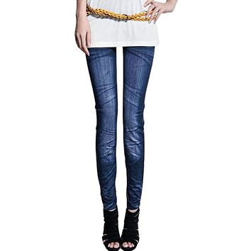 Factory price Sexy Women Jeans Skinny Jeggings denim Stretchy Slim jeans Leggings  Skinny Pants ripped jeans for women 2017