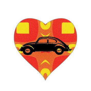 Classic Bug Heart Sticker
