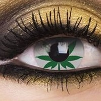 Marijuana Leaf Contact Lenses, Marijuana Leaf Contacts | EyesBright.com