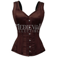 Classic Sleeveless Satin Overbust Corset - VG-0003 by Medieval Collectibles