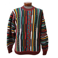 Colorful Coogi Inspired Sweater Multi Color Biggie Snoop Sweater Size Large