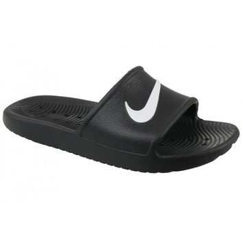 New Nike kawa Shower 832528-001 Black / White Slippers Men