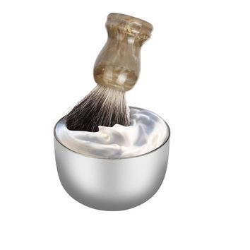 ZY Fashion Stainless Steel Metal Men's Shaving Mug Bowl Cup For Shave Brush
