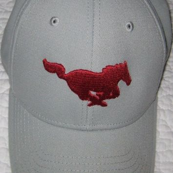DCCKWA2 ADIDAS FITMAX'70 MUSTANG BASEBALL CAP HAT GRAY & RED SIZE LARGE TO X-LARGE
