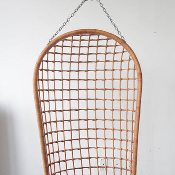 Vintage Bohemian Rattan and Bamboo Hanging Chair