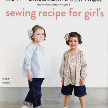 Sewing Recipe for Girl's - Japanese Pattern Book for Girls Children - Yoshiko Tsukiori -B848