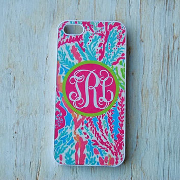 Personalized iPhone or Samsung Galaxy S3 Case, iPhone 4/4S, iPhone 5, iPhone 6, Samsung Galaxy S3, Lilly Pulitzer Inspired Phone Case