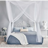 White 4-Post Bed Netting for Canopy Beds - Fits size Full Queen and King