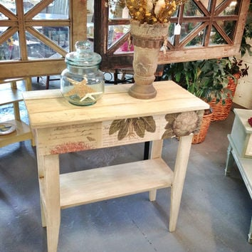 Painted, furniture, stand, botanical, table, storage, foyer