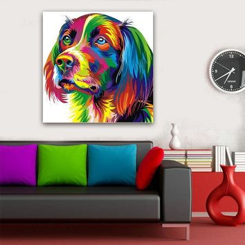 Poster canvas Wall art animal Canvas Painting Pop Art Dog Modern Canvas Wall Pictures print for Living Room No frame