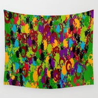 Playful Art Wall Tapestry by kasseggs