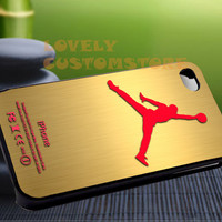 Jordan Gold Nike Red - iPhone 4 / iPhone 4S / iPhone 5 / Samsung S2 / Samsung S3 / Samsung S4 Case Cover
