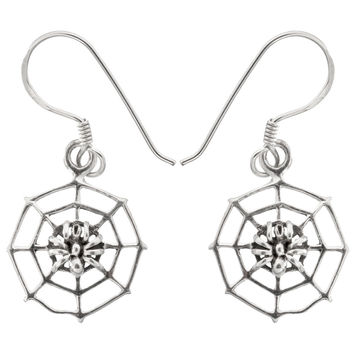 Spider in the Web Earrings