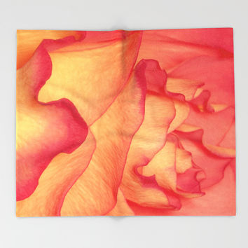 Rosie petals Throw Blanket by Peaky40