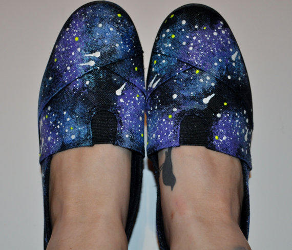 Galaxy Painted Slip Ons