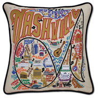 Nashville Hand Embroidered Pillow