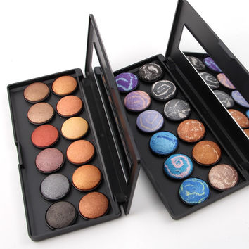 Makeup Eyeshadow Palette 2 Option Baking Powder Smooth Velvet Eye Shadow Kit Professional Make up Pallete Product Cosmetics
