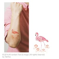 Flamingo - Temporary Tattoo T147