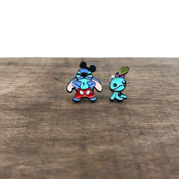 Lilo and Stitch Earrings, Lilo and Stitch Studs, Disney Character Earrings, Disney Earrings, Disney Studs, Stitch Earrings, Stitch Studs