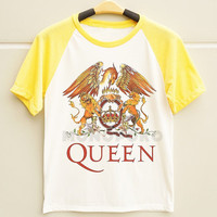 S M L - Queen Band TShirts Queen TShirts Rock TShirts Men TShirts Women TShirts Short Sleeve TShirts Baseball Shirts Raglan Baseball TShirts