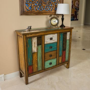 Everest Multi-Color Wood Cabinet by Christopher Knight Home | Overstock.com Shopping - The Best Deals on Coffee, Sofa & End Tables