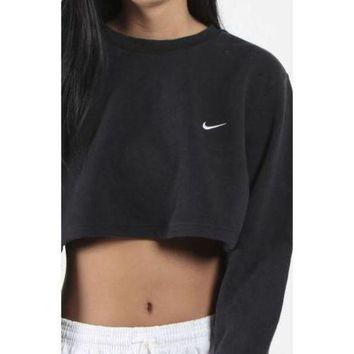 VON3TL Nike Casual Long Sleeve Crop Top Shirt Sweater Pullover