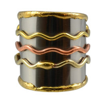 Three Waves Cuff Ring