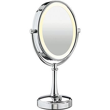 Magnifying Mirror With Light - Shower Mirror - Adjustable Double Sided Mirror - Portable & Wireless Makeup Mirror - 3x Magnification - Rotates 360 Degrees - Compared to ConAir