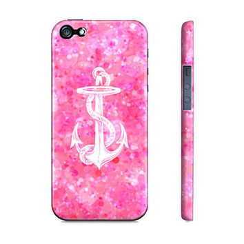 Pretty Pink Bokeh With Anchor - Premium Slim Fit Iphone 5 Case