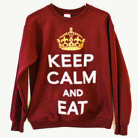 THE Brand — Keep Calm and Eat Crewnecks