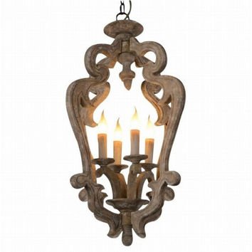 Countryside industrial euro dinning room wood chandelier pendant lamp light