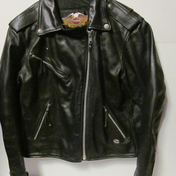 Harley Davidson Leather Jacket sz L Harley Davidson Womens size L Jacket Leather Biker Jacket Women Harley Clothing Vintage Harley Clothes